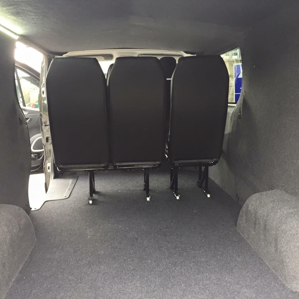 Van conversion internal view